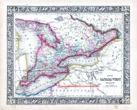 Canada West, World Atlas 1864 Mitchells New General Atlas